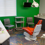 green pediatric dental room