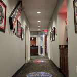 hallway with Columbus Blue Jackets pictures
