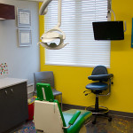 yellow pediatric dentist room
